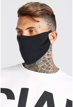 Black 3 Pack Plain Fashion Masks