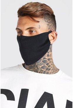 Black 3 Pack Plain Fashion Masks