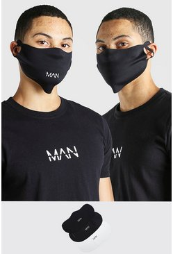 Multi 3 Pack MAN Branded Fashion Masks