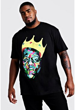 T-Shirt Biggie Crown Big And Tall, Noir