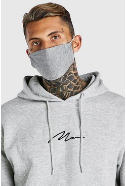 Grey 5 Pack Plain Fashion Masks