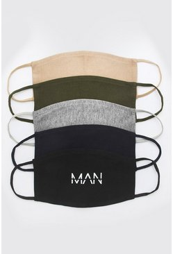 5 Pack Multi MAN Reversible Fashion Masks
