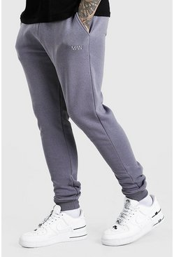 Charcoal Skinny Fit Original MAN Double Waistband Joggers
