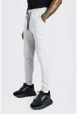 Grey marl Skinny Fit Original MAN Double Waistband Jogger