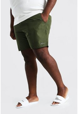 Green Plus Size MAN Signature Swim Short
