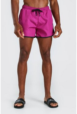 Purple MAN Signature Runner Swim Shorts