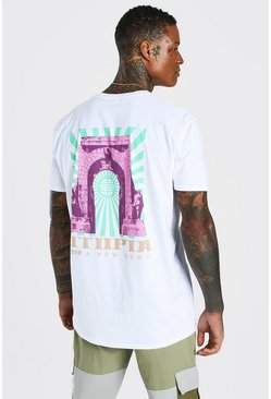 White Oversized Utopia Back Print T-Shirt