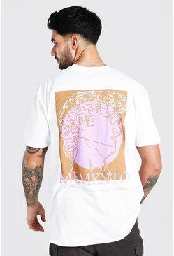 White Oversized Memento Print T-Shirt