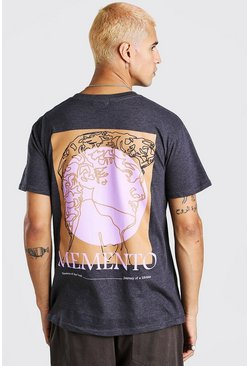 Grey Memento Print T-Shirt