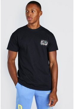 Black San Francisco Printed T-Shirt