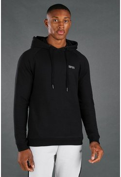 Black MAN Active Muscle Fit Hoodie