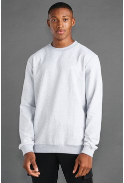 Grey marl MAN Active Regular Fit Sweat