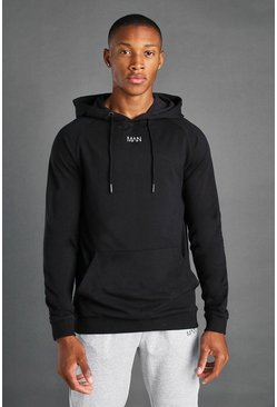 Black MAN Active Regular Fit Hoodie