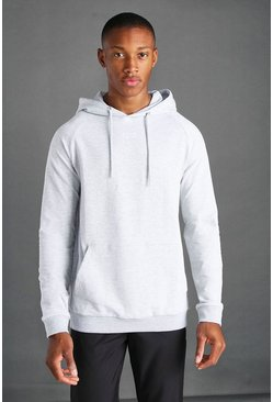 Grey marl MAN Active Regular Fit Hoodie