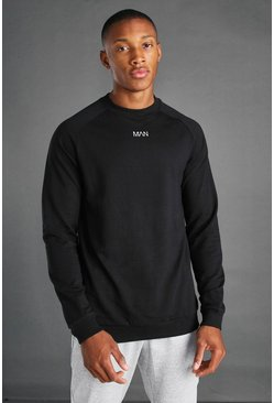 Black MAN Active Regular Fit Sweat