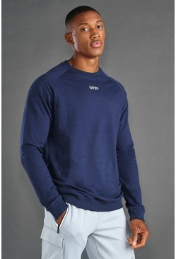 Sweat coupe droite MAN Active, Marine