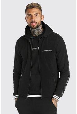 Black MAN Official Polar Fleece Funnel Gilet