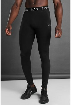 MAN Active Seamless Tights, Black