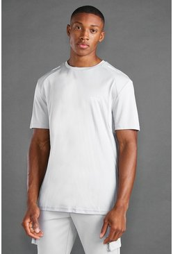 MAN Active T-shirt With Reflective Detail , Grey