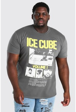 Charcoal Big & Tall Ice Cube Volume 1 License T-Shirt