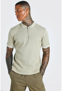 Stone MAN Muscle Fit Short Sleeve Contrast Collar Polo