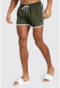 Green MAN Signature Runner Swim Shorts