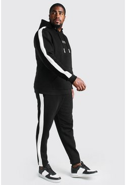 Black Big & Tall MAN Dash Tracksuit With Panels