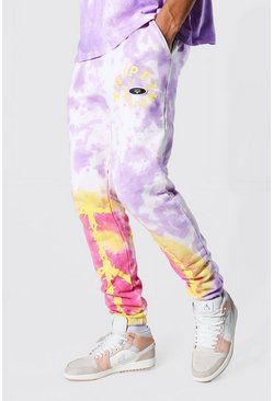 Purple Tall Regular Peace Graphic Tie Dye Joggers