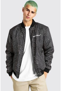 Brown Animal Printed Bomber