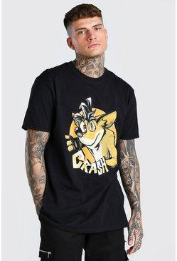 Black Oversized Crash Bandicoot License T-Shirt