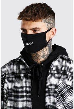 Black MAN Dash Snood And Fashion Mask Set