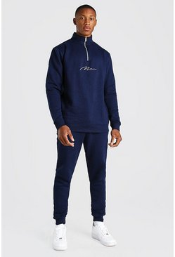 Blue Man Signature Half Zip Tracksuit