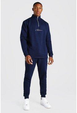 Blue Man Signature Half Zip Tracksuit