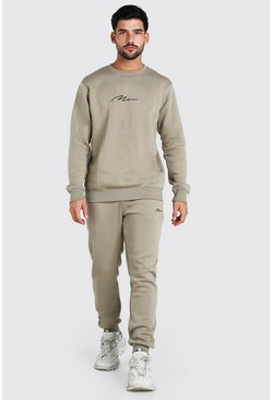 MAN Signature Regular Sweater Tracksuit, Green