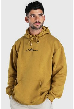 MAN Signature Embroidered Oversized Hoodie