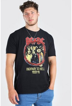 Big & Tall ACDC License T-Shirt, Black