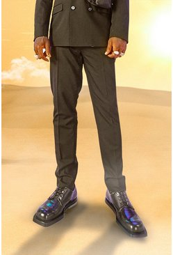 Black Burna Boy Slim Fit Suit Trousers