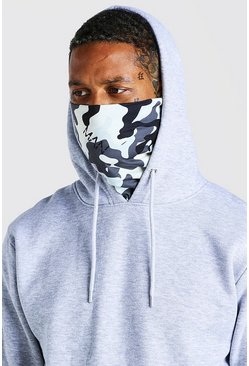 Khaki MAN Dash Camo Print Jersey Snood