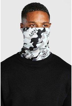 Grey Man Dash Camo Print Jersey Snood
