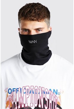 Black MAN Dash And Plain Snood Pack