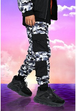 Joggings cargo camouflage Burna Boy
