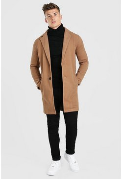 Camel Summer Wool Look Overcoat