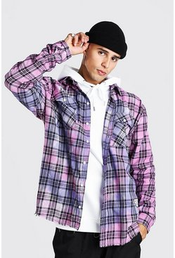 Pink Man Official Oversized Tie Dye Flannel Shirt