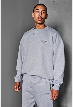 Grey marl Official Collection Heavyweight Sweater