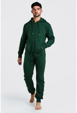 Green Long Sleeve Hooded Onesie