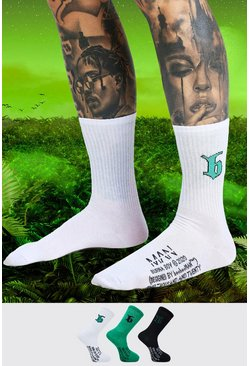 Multi Burna Boy 3 Pack B Sock