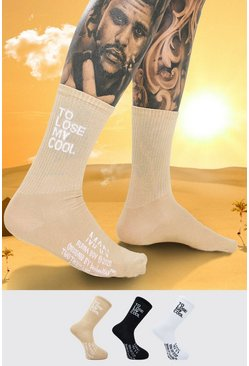 Multi Burna Boy 3 Pack Lose My Cool Sock