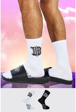 Multi Burna Boy 2 Pack B Sock