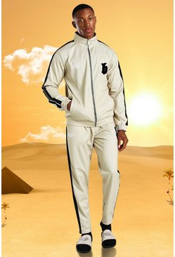 Stone Burna Boy Slim Fit Tricot Tape Funnel Tracksuit