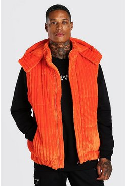 Orange Jumbo Corduroy Gilet